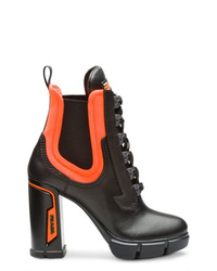 Prada Chunky Lace Up Boots