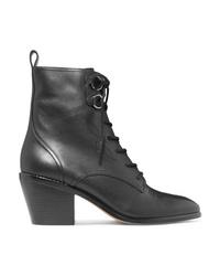 Diane von Furstenberg Dakota Lace Up Leather Ankle Boots