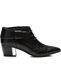 Rodarte Embossed Leather Ankle Boots