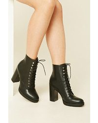 Forever 21 Lace Up Ankle Booties