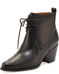 Bettye Muller Frontier Lace Up Ankle Bootie Black