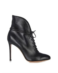 Gianvito Rossi Jane Lace Up Leather Ankle Boots