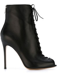 Gianvito Rossi Lace Up Ankle Boots