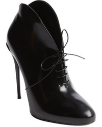 Gucci Black Leather Lace Up Ankle Boots
