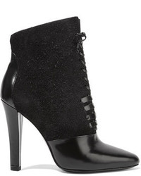 3.1 Phillip Lim Harleth Lace Up Suede And Glossed Leather Ankle Boots