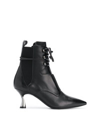 Casadei Heeled Lace Up Ankle Boots