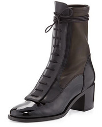Laurence Dacade Inde Lace Up Combo Leather Mid Calf Boot