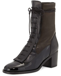 Laurence Dacade Inde Lace Up Leather Ankle Boot Black