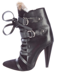 Isabel Marant Leather Buckle Ankle Boots