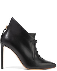 Francesco Russo Lace Up Leather Ankle Boots Black