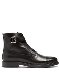 Tod's Lace Up Leather Ankle Boots