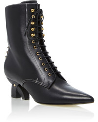 Loewe Lace Up Leather Ankle Boots