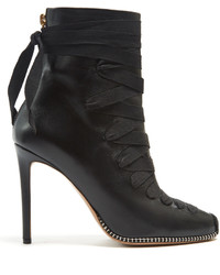 Altuzarra Lace Up Leather Ankle Boots