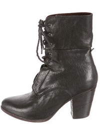 Rag & Bone Lace Up Leather Ankle Boots