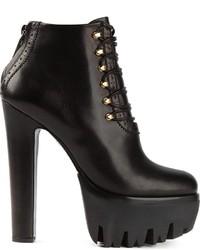 Versus Lace Up Platform Ankle Boots