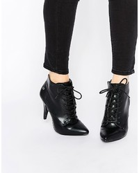 Blink Lace Up Point Heeled Ankle Boots