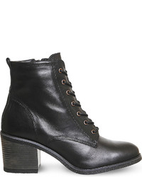 Office Latch Leather Ankle Boots