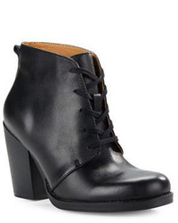 Latigo Fig Leather Lace Up Ankle Boots