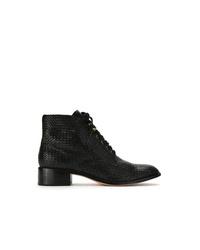 Sarah Chofakian Leather Ankle Length Boots