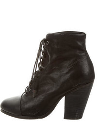 Rag & Bone Leather Lace Up Ankle Boots