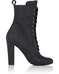 Barneys New York Leather Lace Up Ankle Boots