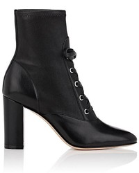 Gianvito Rossi Leather Lace Up Ankle Boots