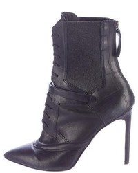 Hugo Boss Leather Lace Up Ankle Boots