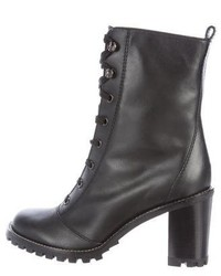 Marc by Marc Jacobs Leather Lace Up Ankle Boots