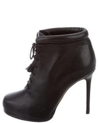 Theory Leather Lace Up Ankle Boots
