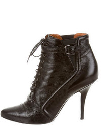 Givenchy Leather Lace Up Booties