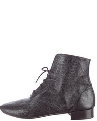 Repetto Leather Round Toe Ankle Boots