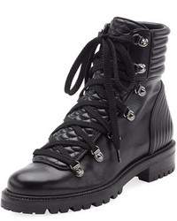 Christian Louboutin Mad Leather Lace Up Ankle Boot Black