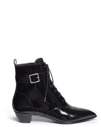 Marc by Marc Jacobs Ankle Strap Leather Lace Up Combat Boots