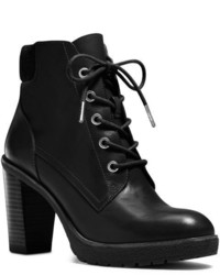 Michael Kors Michl Kors Kim Lace Up Leather Ankle Boot