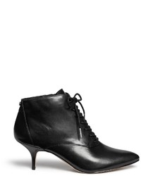 Michael Kors Michl Kors Talulah Leather Lace Up Booties