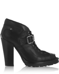 Miu Miu Lace Up Leather Ankle Boots