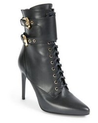 Balmain Nina Leather Ranger Booties