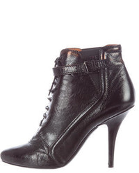 Givenchy Patent Leather Lace Up Booties