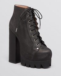 Jeffrey Campbell Platform Booties Nola Lace Up