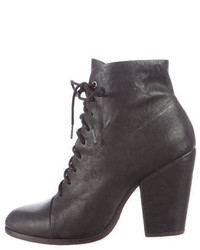Rag & Bone Leather Round Toe Ankle Boots