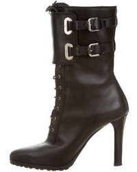Ralph Lauren Collection Leather Lace Up Ankle Boots