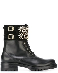 Rene Caovilla Ren Caovilla Lace Up Buckled Ankle Boots