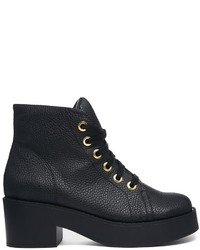 Asos Rocket Lace Up Ankle Boots Black