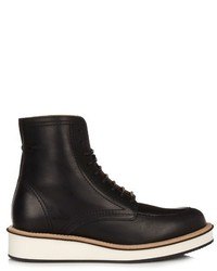 Givenchy Rottweiler Leather Lace Up Ankle Boots