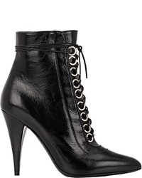 Saint Laurent Fetish Lace Up Boots Black