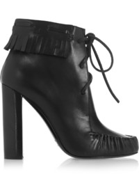 Tom Ford Santa Fe Fringed Leather Ankle Boots