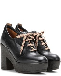 See by Chloe See By Chlo Platform Lace Up Leather Ankle Boots