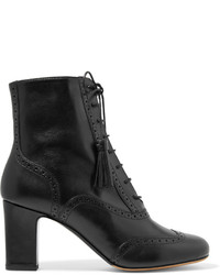 Tabitha Simmons Afton Leather Ankle Boots Black
