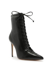 Schutz Tennie Pointed Toe Lace Up Boot