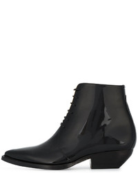 Saint Laurent Theo Lace Up Ankle Boots